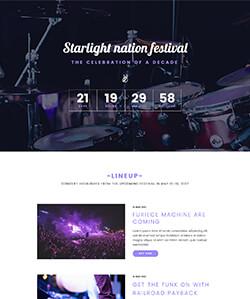 Musical Landing WebPageSP.com
